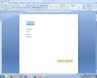 Cara Membuat Link Content Ms Word