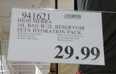 Deal for the High Sierra Zeta 16L Hydration Backpack at Costco