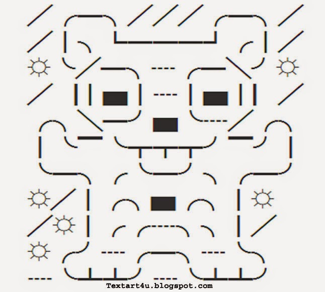 Silly Bear Unicode Twitter Art Copy Paste Code Cool Ascii Text Art 4 U