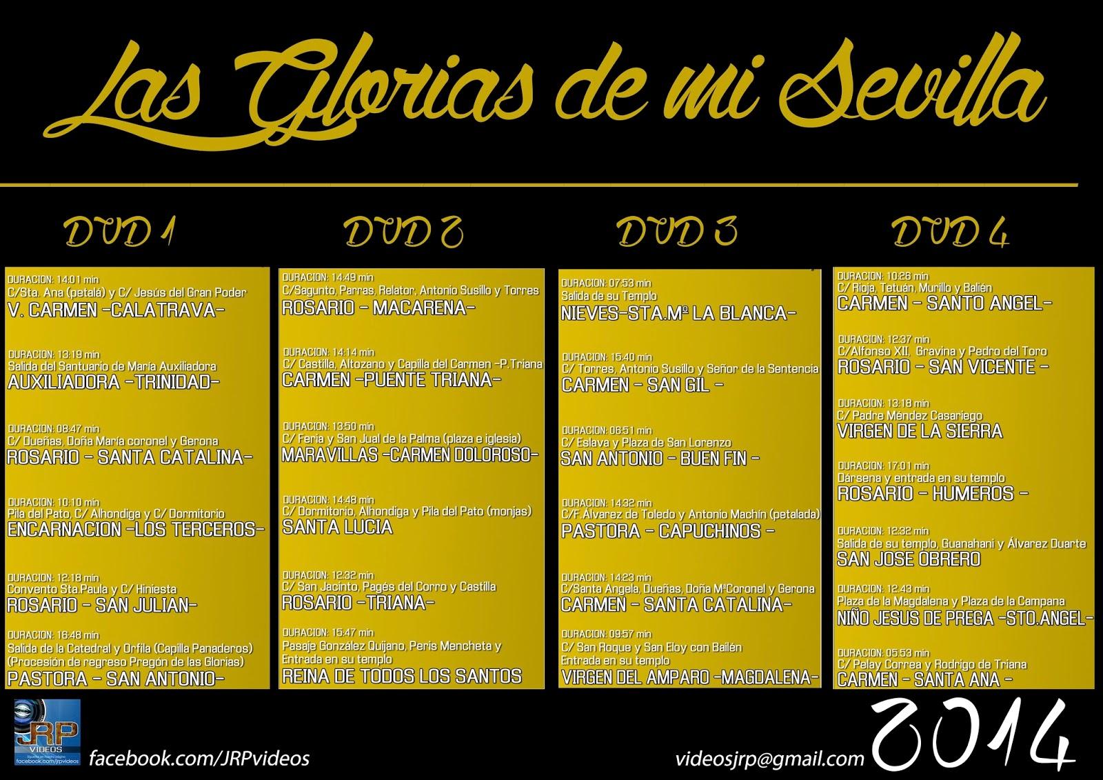 Pack procesiones de gloria sevilla 2014 precio 25 - El tiempo en sevilla la nueva ...