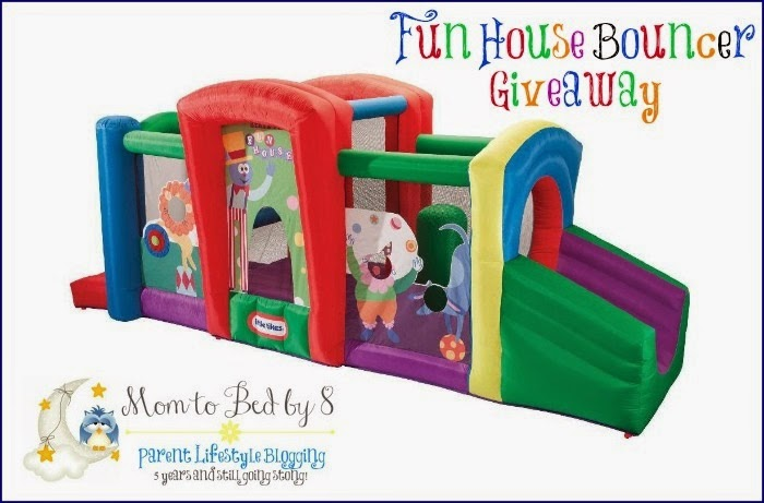 Enter the Little Tikes Fun House Bouncer Giveaway. Ends 8/28 US/CA