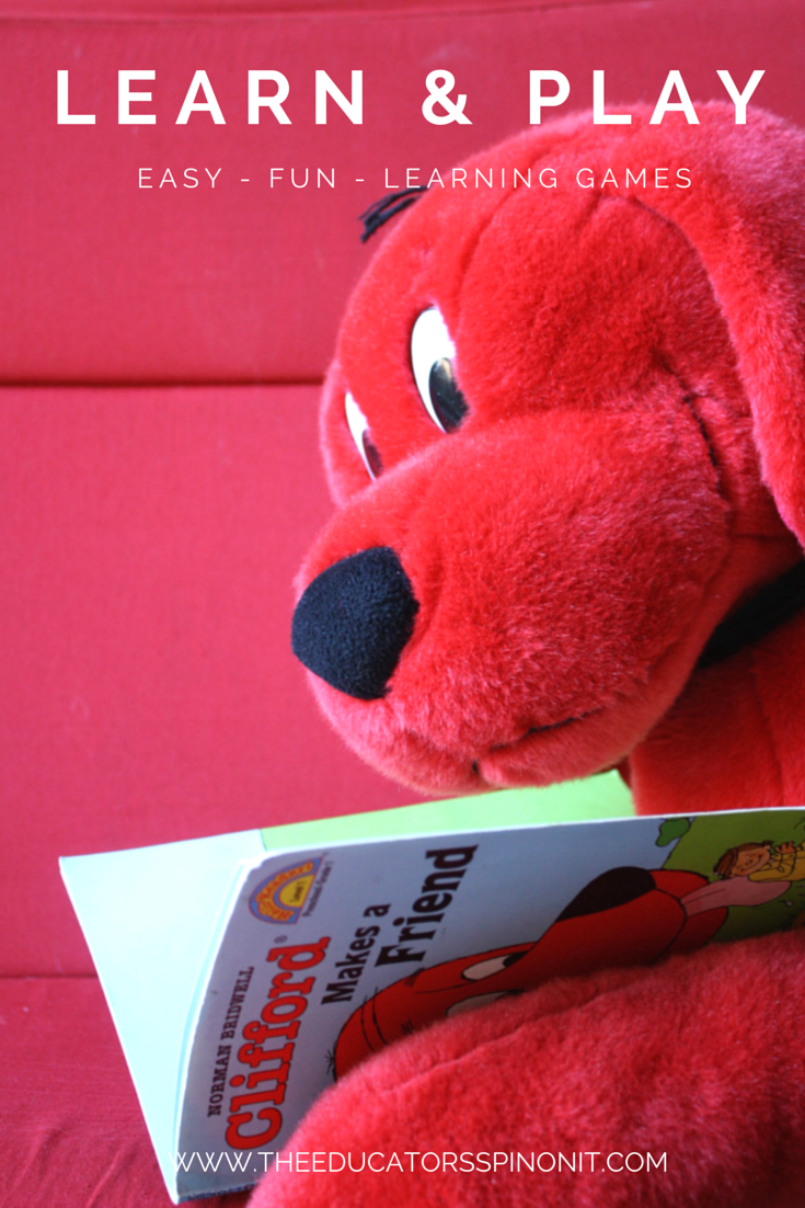 EASY Play and Learn Clifford games: No prep needed.  Just read - then do!