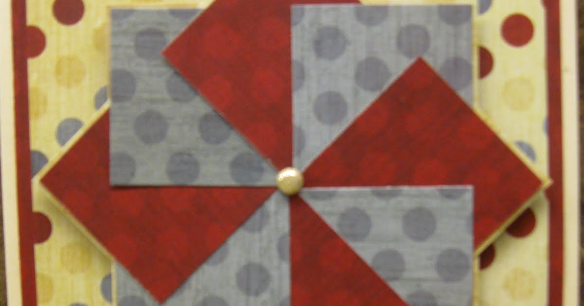 how to make a pinwheel card