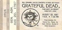 Grateful Dead Park West Ski Resort Utah 8- 20-1987