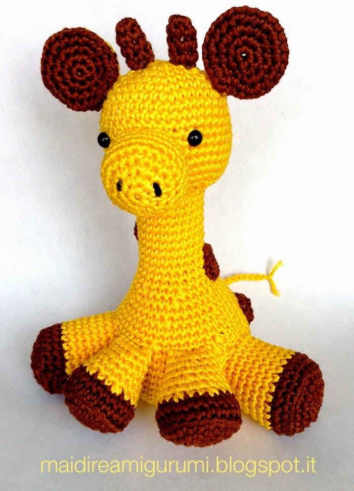 Amigurumi Uncinetto Gratis : Ho appena finito questa giraffa, lho iniziata quasi ...
