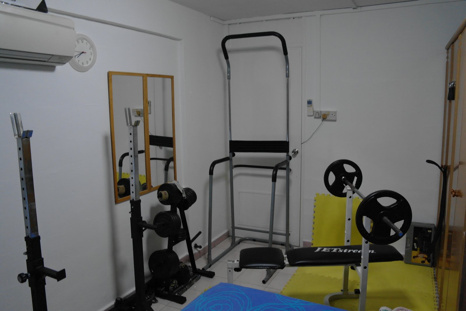 Singapore home gym my arrangement chest workout