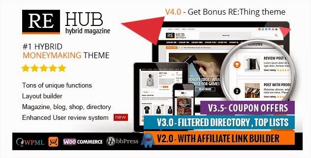 Download REHub v4.0.1 – Directory, Shop, Coupon, Affiliate WordPress ...