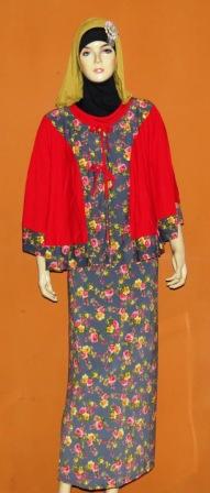 Gamis Rompi Kalong Gkm4504 Grosir Baju Muslim Murah