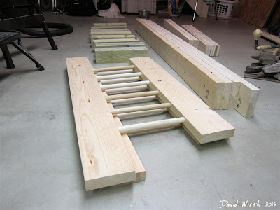 Wood Bed Headboard with Dowels Make