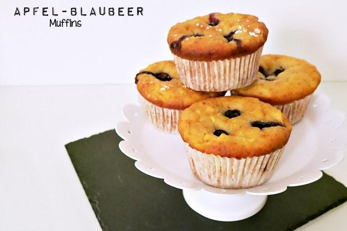 Apfel-Blaubeer Muffins
