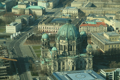 Berliner Dom seen from the Alexanderplatz TV Tower