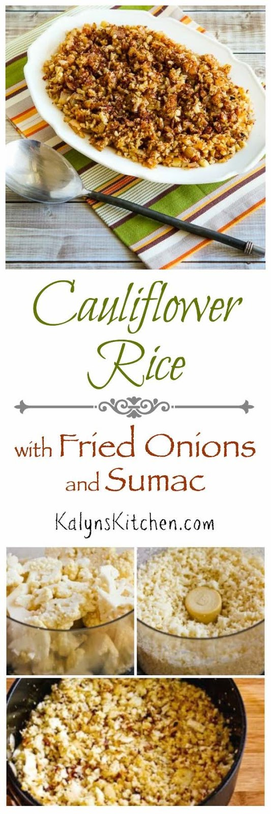 Low-Carb Cauliflower Rice with Fried Onions and Sumac - Kalyn\'s Kitchen