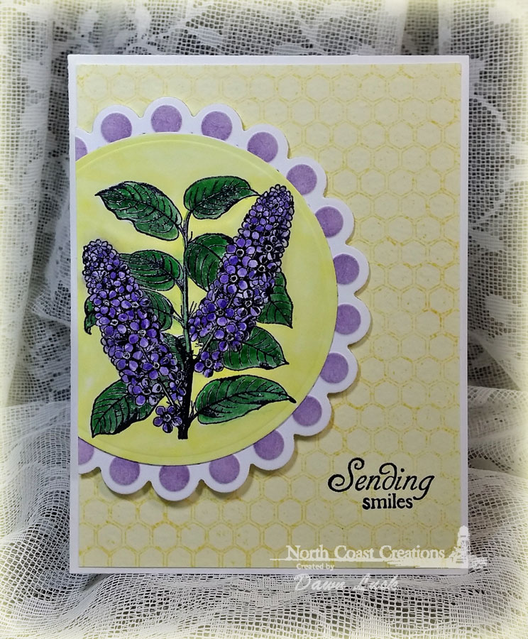 Stamps - North Coast Creations Floral Sentiments 4, ODBD Honeycomb Mini Background