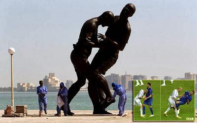 Patung-Zidane-vs-Materazzi-Qatar