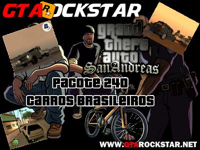 GTA SA - Pacote com 240 Carros Brasileiros