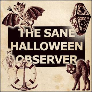 Vintage Halloween and Karneval embossed cardboard diecut cardboard decorations from 1955 - devil, lantern, skeleton, cat