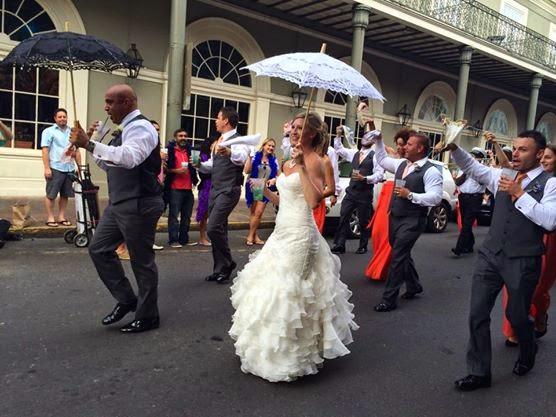 Bourbon Street Wedding Parade