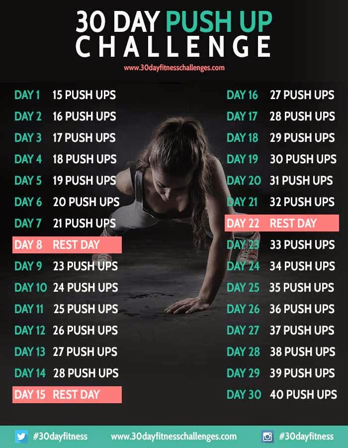 ... 30 day challenge. I am using their push up challenge, found below