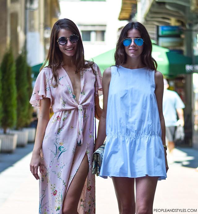 Zara maxi dress salmon pink, street style, Petra, Sara