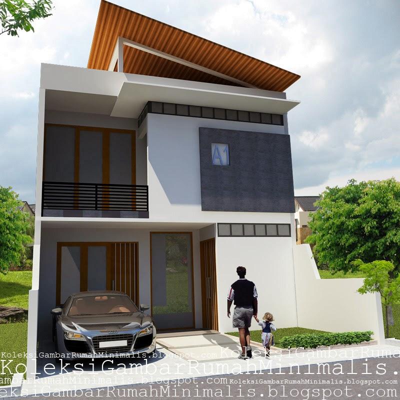 Contoh Gambar Rumah Minimalis 2 Lantai  Koleksi Gambar Rumah