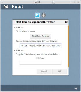 Tutorial Cara Mengistall Hotot (twitter client) di Ubuntu atau Linux Mint melalui PPA