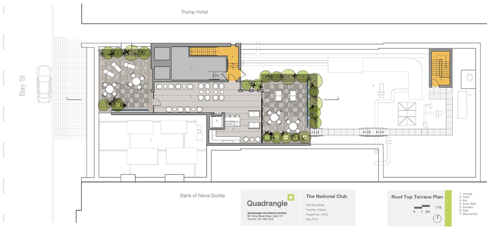 Attractive National Club Rooftop Patio Floor Plan