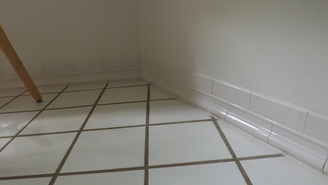 Mariette S Back To Basics Tile Baseboard In Our Kitchen