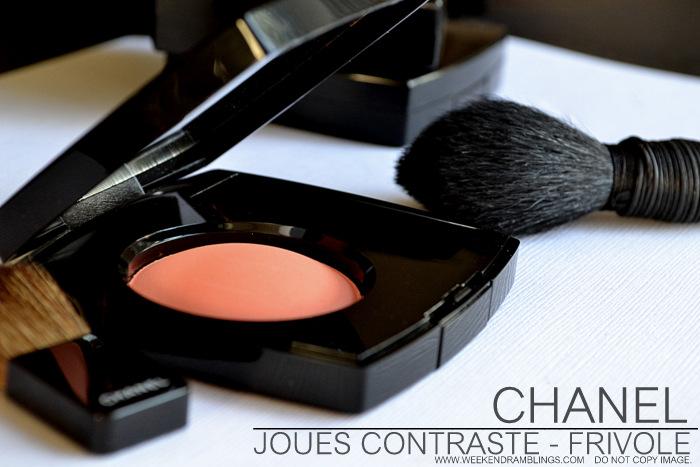 Chanel Joues Contraste Blush Frivole 76 Printemps Precieux de Spring 2013 Makeup Collection Review Swatch FOTD Looks