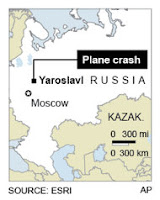 43 dead, Russian jet carrying hockey team crashes