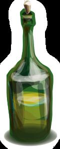 blurry green bottle clipart