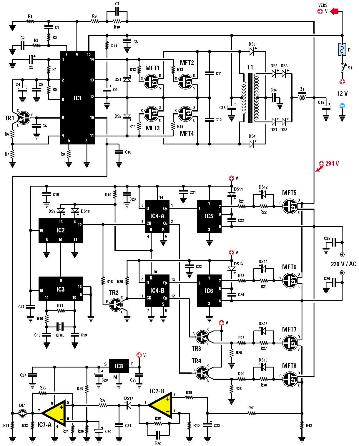 led schematic with Un Convertisseur 12 Volts Continus 220 on Arduino And 4051 Led Ex le additionally  together with Rgb Led Brightness Levels moreover Usb Wiring Diagram Power Wires also PS0 28 6A.