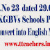 AP Go 23 All KGBV Schools Converted into English Medium Schools