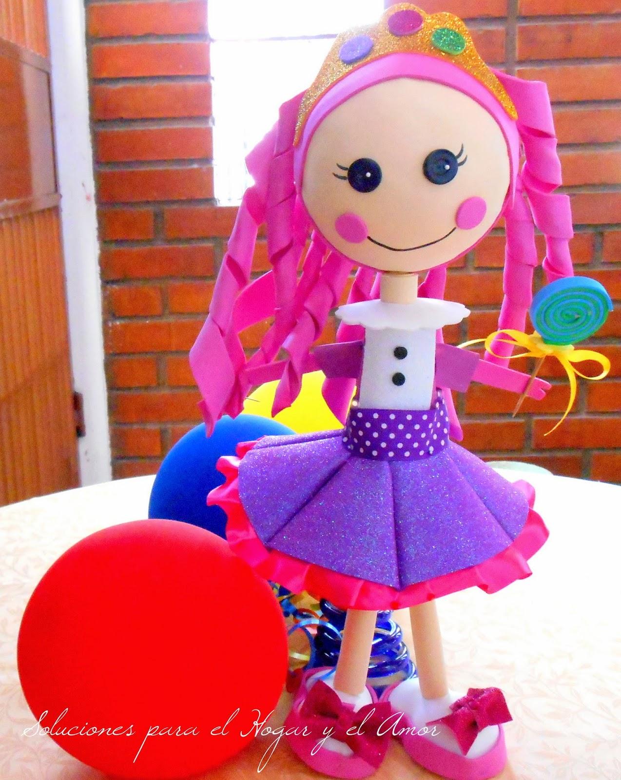 muñeca de foamy, lalaloopsy de foamy, termo formado muñecos