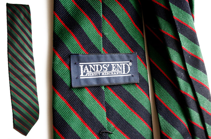 Lands End thin stripe tie