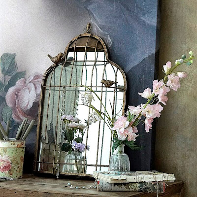 Birdcage Mirrors by An Angel at my Table