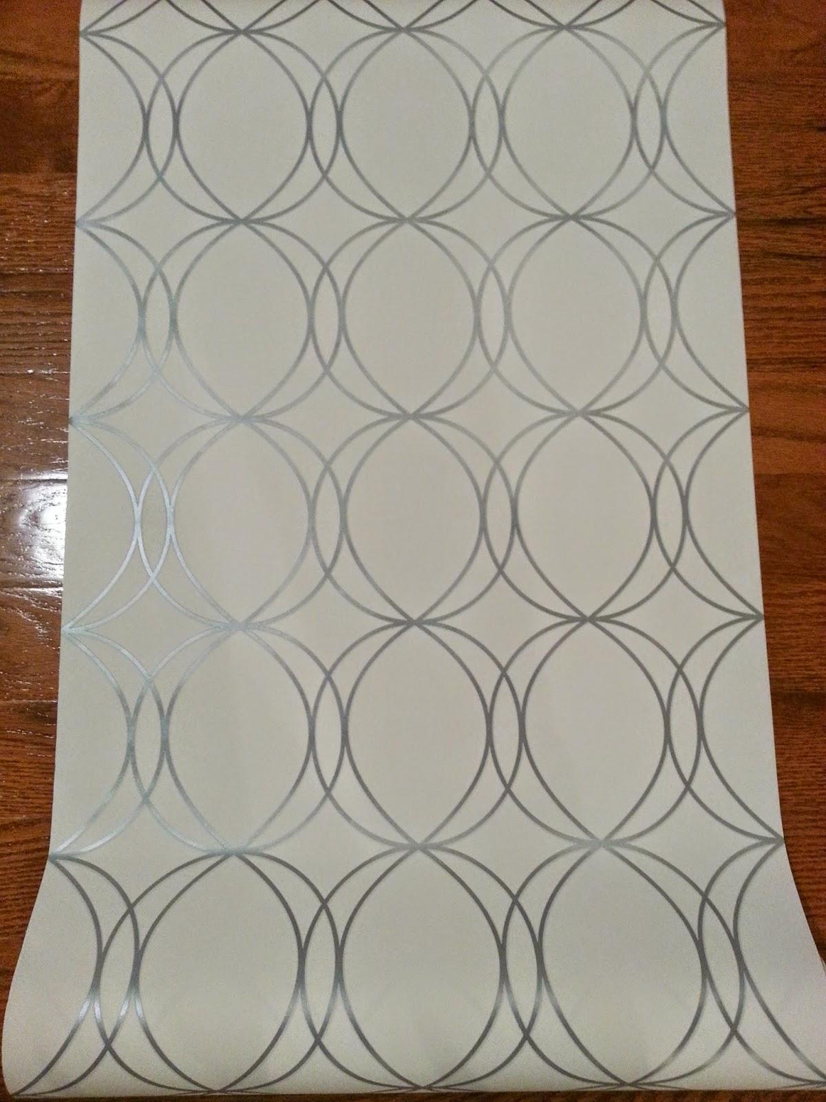 Allen-Roth-White-Silver-Circles-Wallpaper