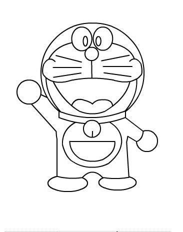 Animated Cartoon Doraemon Coloring