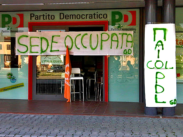 #occupypd sedi pd occupate