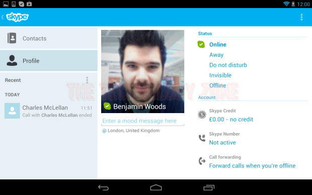 how to delete skype app from android tablet