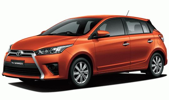 Toyota All New Yaris Orange Metallic