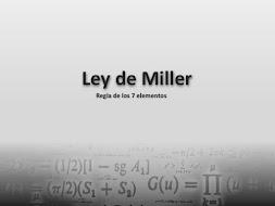 La Ley de Miller