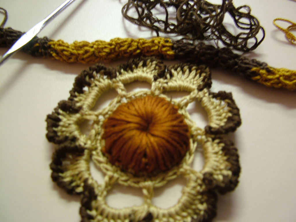 My latest obsession crocheting with embroidery floss