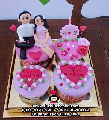 Cupcake Valentine dan Anniversary Daerah Surabaya - Sidoarjo