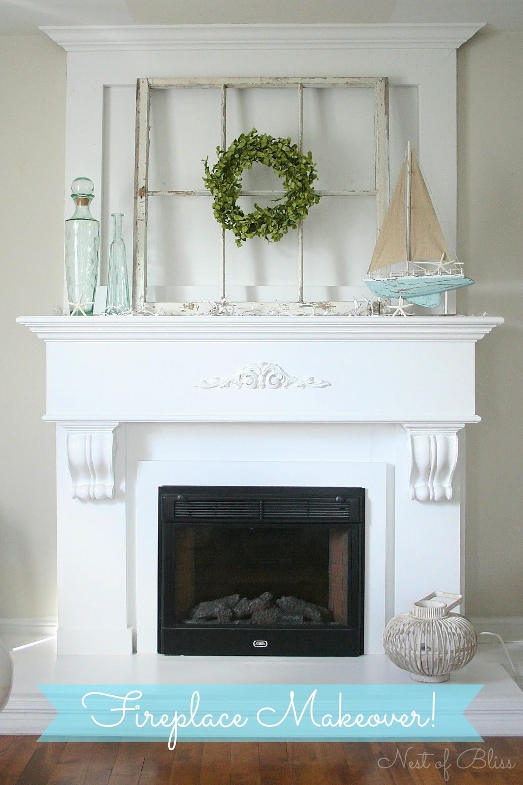 Fireplace Mantel Makeover Nest Of Bliss