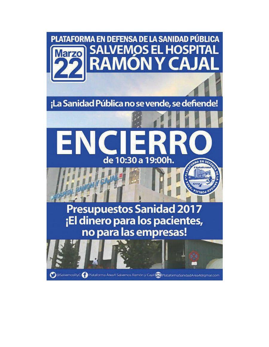 22 marzo Encierro y Concentración en el Ramón y Cajal