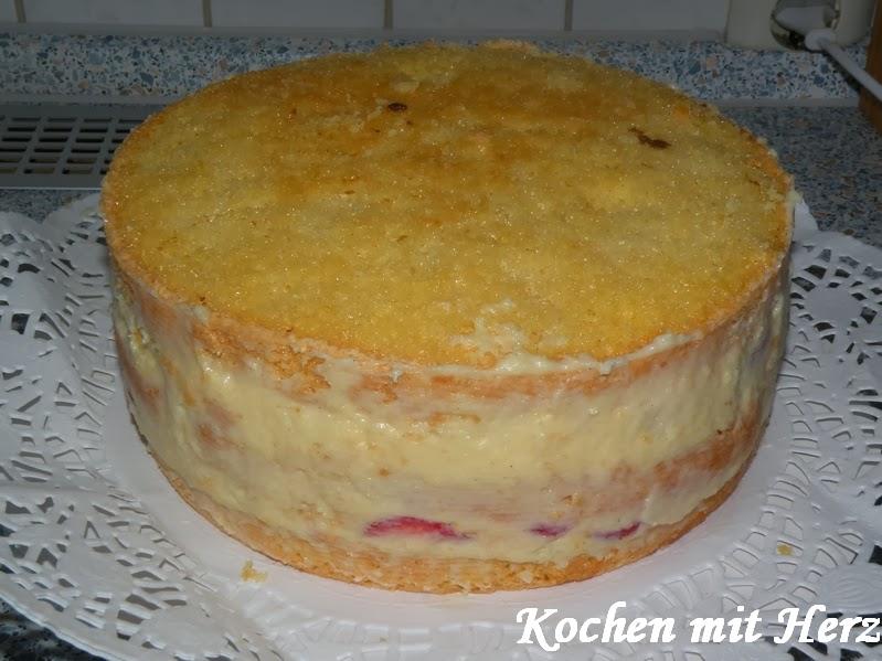 Italienische torte mit crema pasticcera