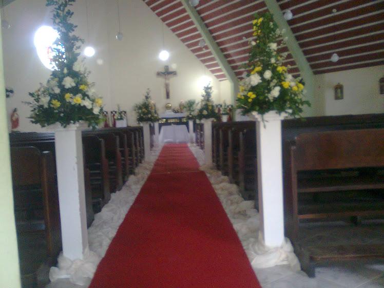 Decoração da igreja São José em Casa Caiada