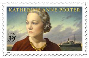 U. S. postage stamp honoring Katherine Anne Porter