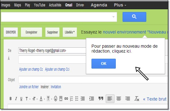 passer à la nouvelle interface gmail