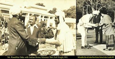 ranabhai sida with home minister shri zeil singh,1981